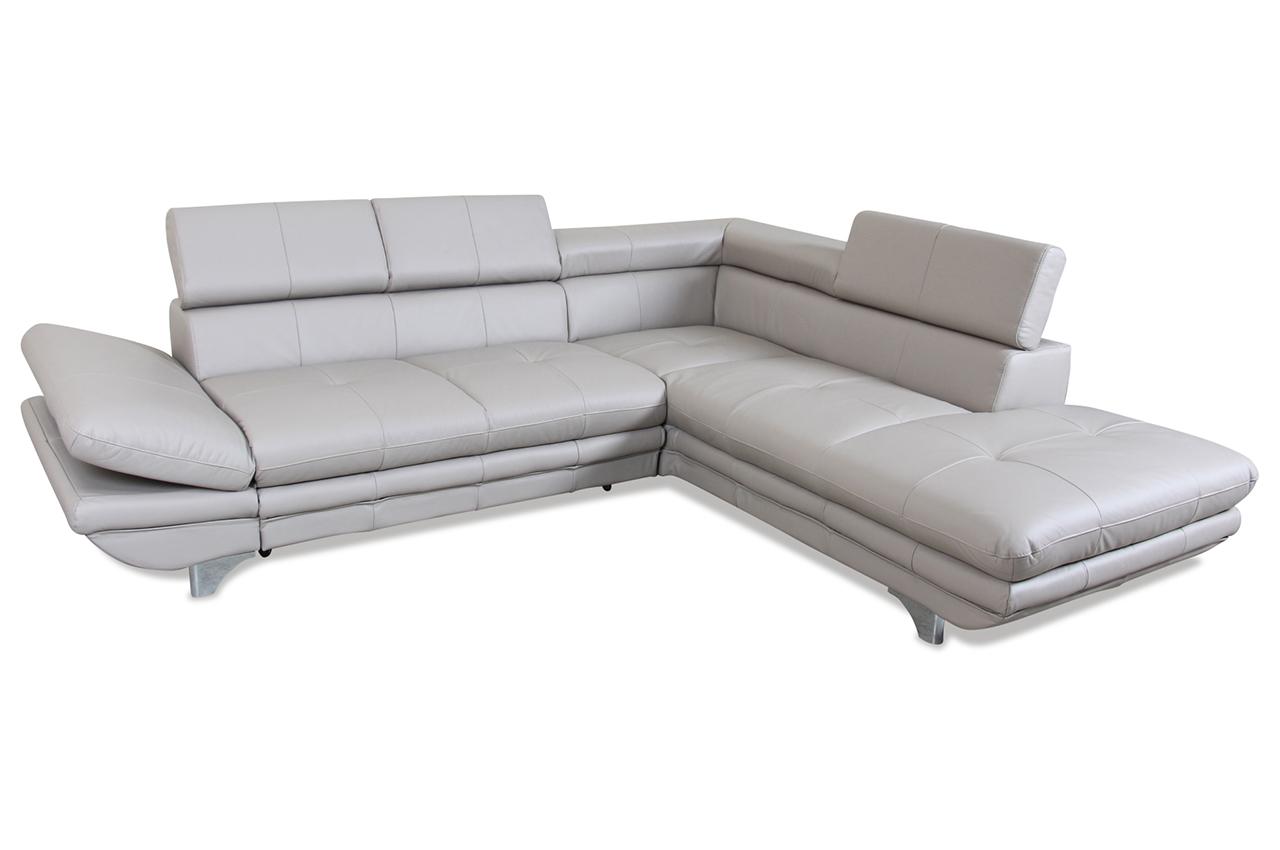 cotta leder ecksofa xl enterprise mit schlaffunktion creme mit federkern sofas zum halben. Black Bedroom Furniture Sets. Home Design Ideas