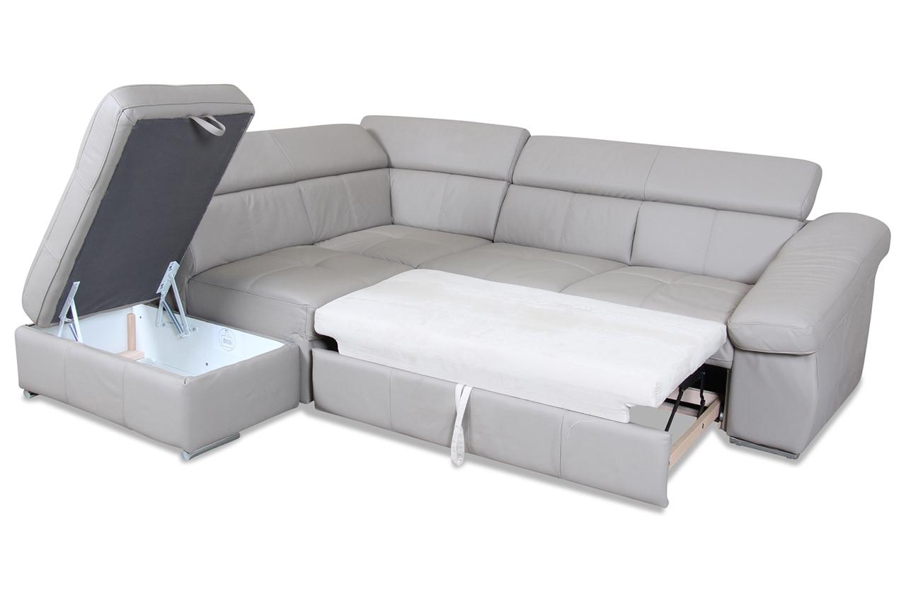 cotta leder ecksofa xl slide mit schlaffunktion creme mit federkern sofas zum halben preis. Black Bedroom Furniture Sets. Home Design Ideas