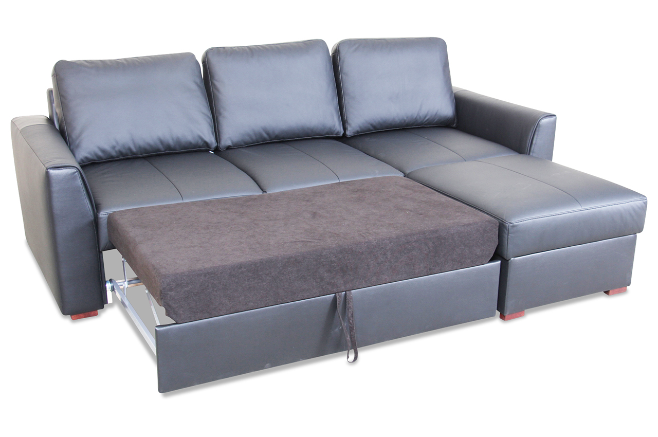 leder ecksofa moreno mit schlaffunktion grau mit. Black Bedroom Furniture Sets. Home Design Ideas