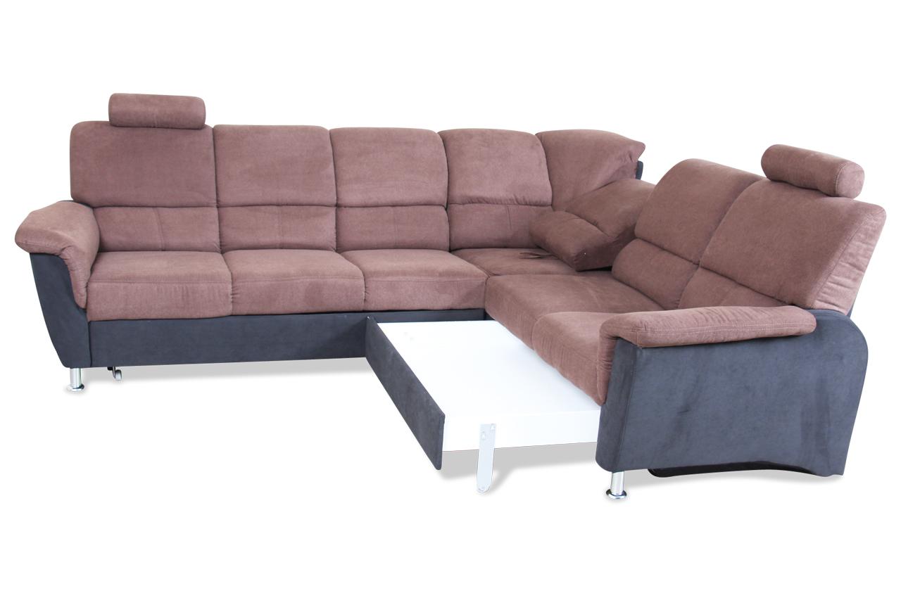 rundecke almeno mit schlaffunktion braun mit federkern sofas zum halben preis. Black Bedroom Furniture Sets. Home Design Ideas