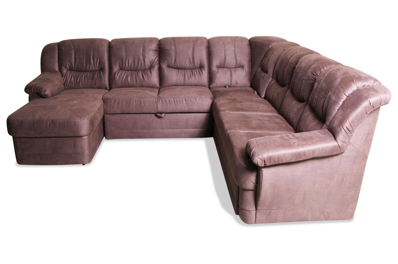 wohnlandschaft orion mit relax und schlaffunktion braun sofas zum halben preis. Black Bedroom Furniture Sets. Home Design Ideas