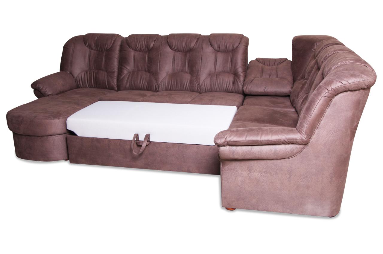 wohnlandschaft linus mit relax und schlaffunktion braun sofas zum halben preis. Black Bedroom Furniture Sets. Home Design Ideas