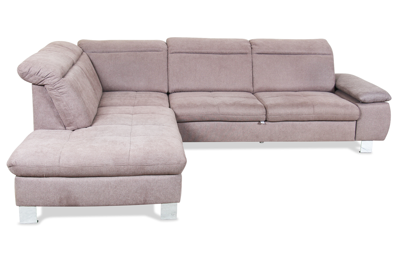 ada alina ecksofa xl 7173 mit schlaffunktion braun mit federkern sofa cou ebay. Black Bedroom Furniture Sets. Home Design Ideas