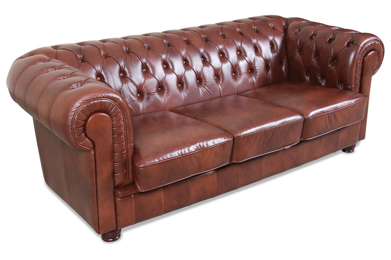 max winzer leder 2er sofa kent braun mit federkern sofas zum halben preis. Black Bedroom Furniture Sets. Home Design Ideas