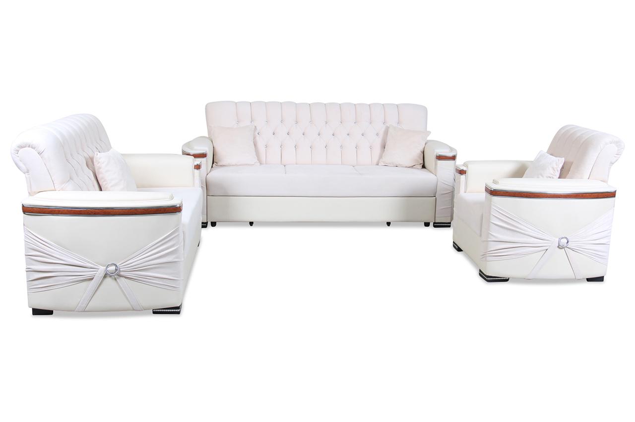 furntrade garnitur 3 2 1 br ssel mit schlaffunktion creme mit federkern sofas zum halben preis. Black Bedroom Furniture Sets. Home Design Ideas