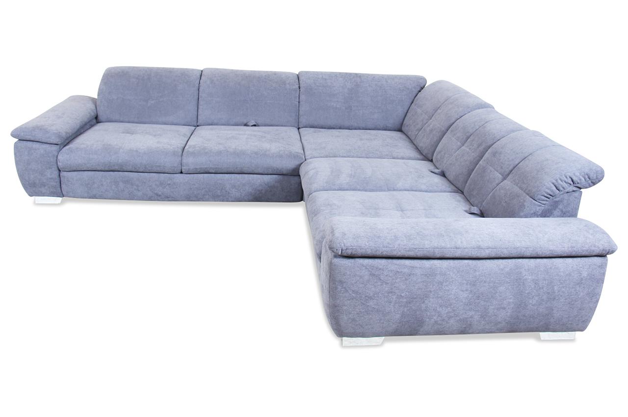 sale ada alina rundecke 7520 anthrazit mit federkern sofa couch ecksofa ebay. Black Bedroom Furniture Sets. Home Design Ideas