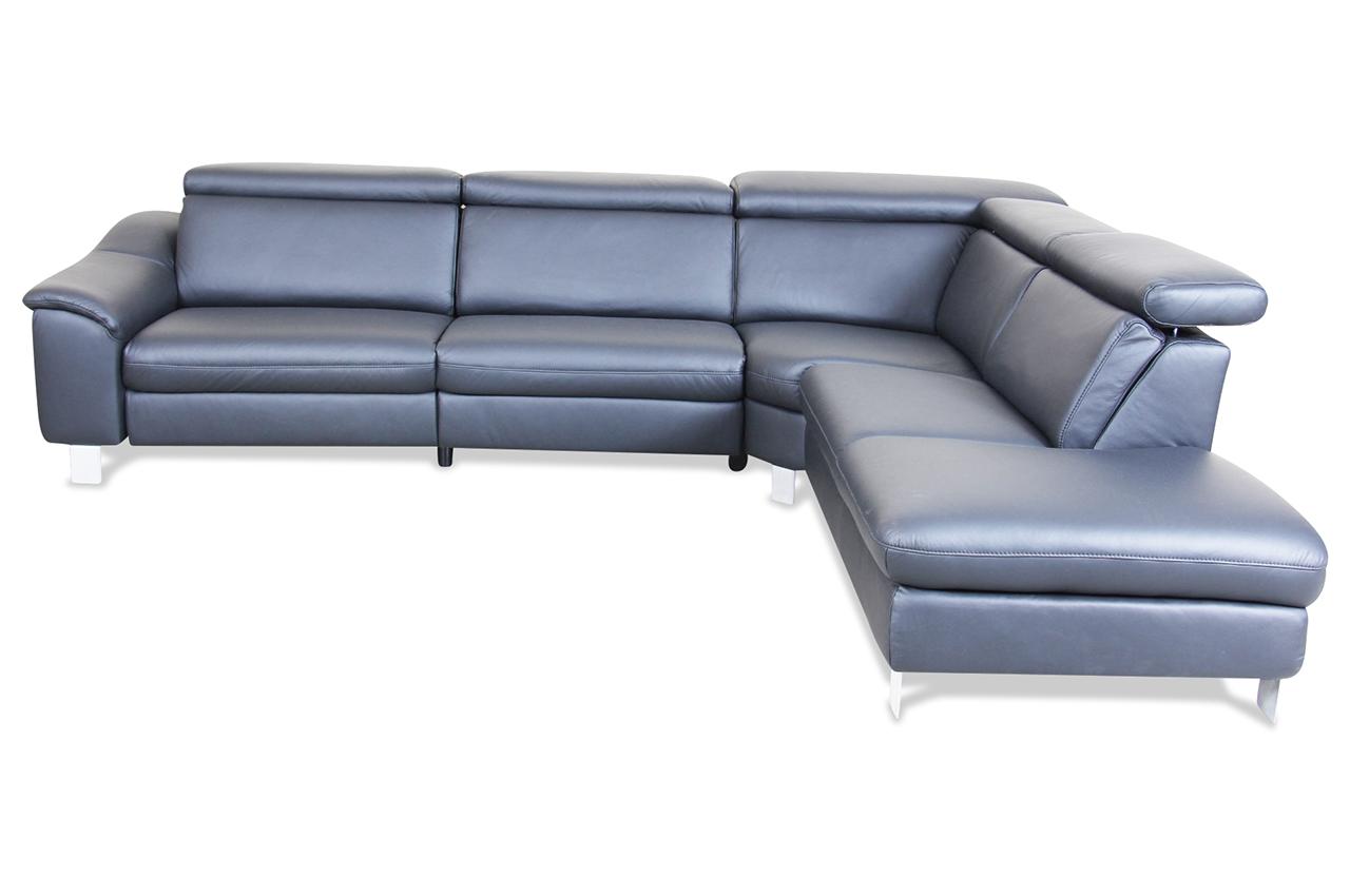 Poco Leder Rundecke Vito Sono Mit Relax Schwarz Mit Federkern Sofa Couch Ebay