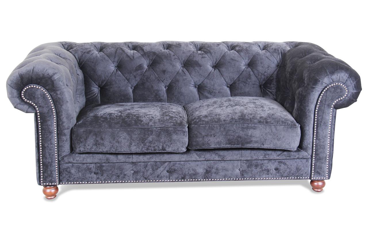 max winzer 2er sofa kent schwarz mit federkern sofas zum halben preis. Black Bedroom Furniture Sets. Home Design Ideas