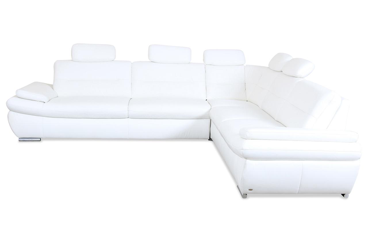 Sale Polsteria Leder Rundecke Vito Renzo Creme Mit Federkern Sofa Couch Ecks