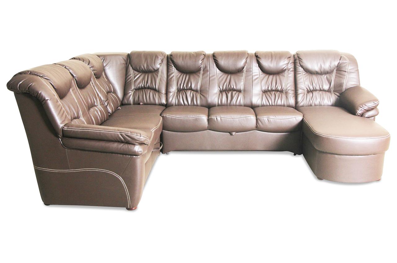 wohnlandschaft linus mit schlaffunktion braun sofas zum halben preis. Black Bedroom Furniture Sets. Home Design Ideas