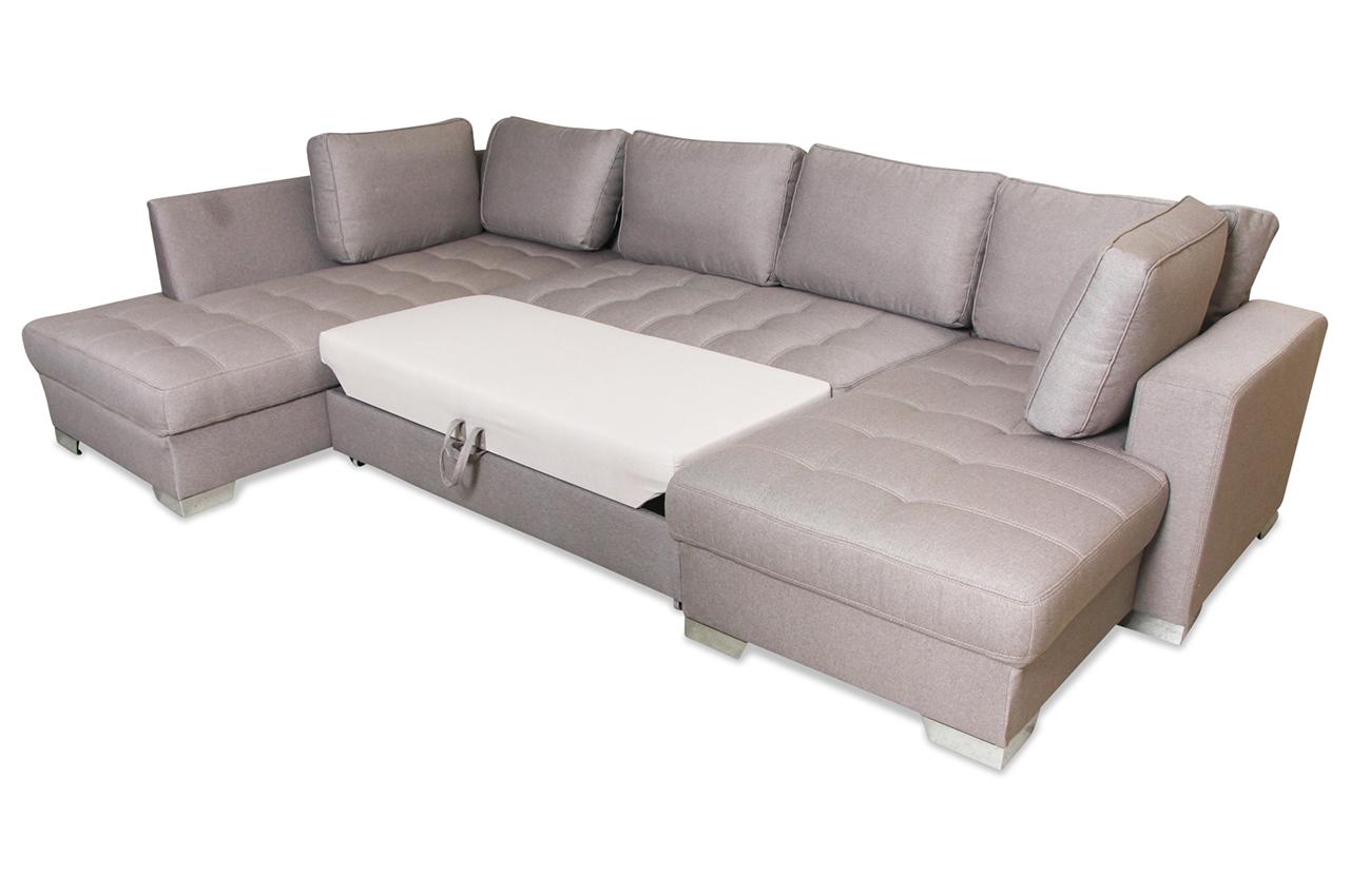 wohnlandschaft arles mit schlaffunktion grau sofas zum halben preis. Black Bedroom Furniture Sets. Home Design Ideas