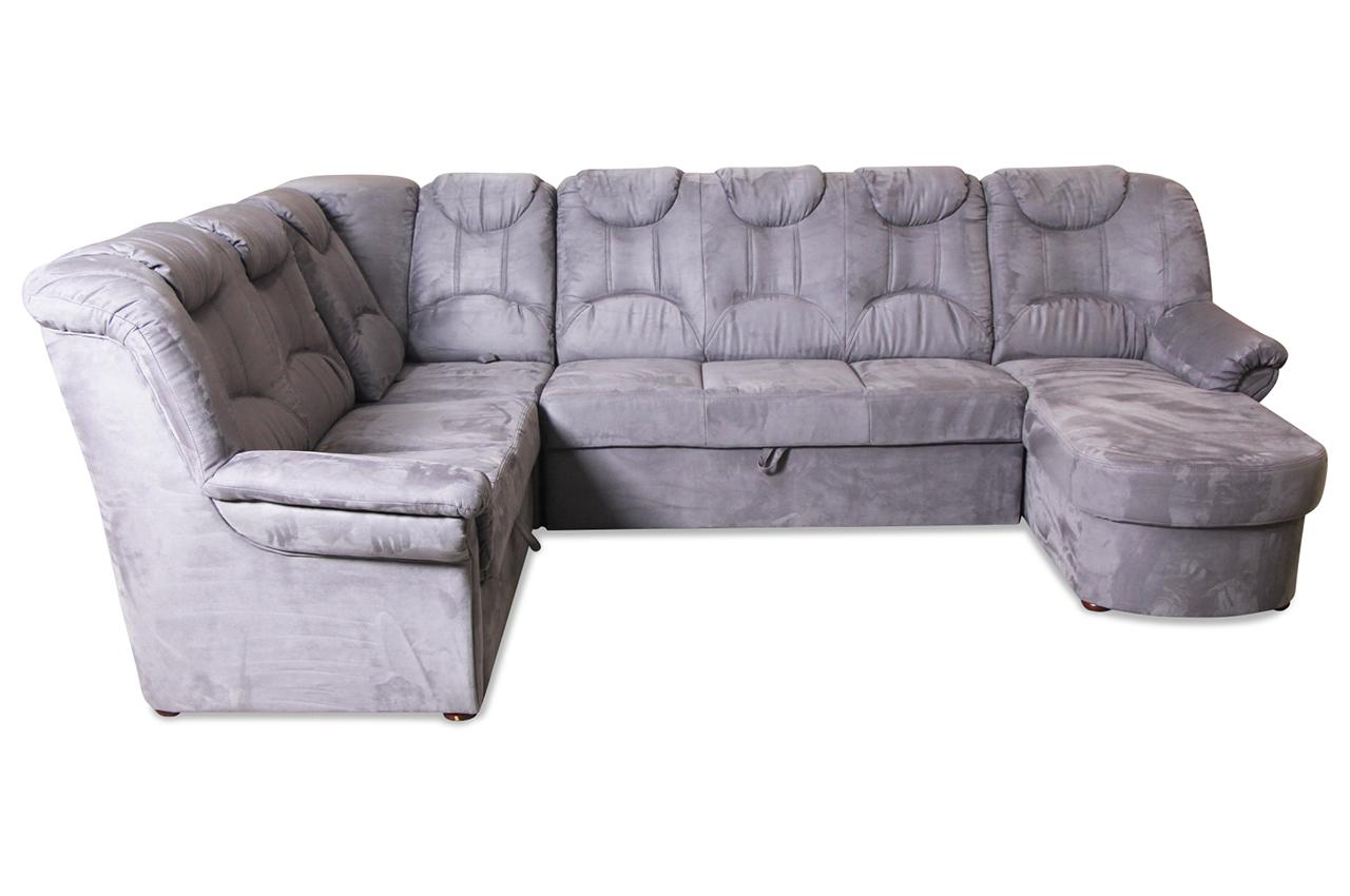 wohnlandschaft linus mit sitzverstellung und schlaffunktion grau sofas zum halben preis. Black Bedroom Furniture Sets. Home Design Ideas