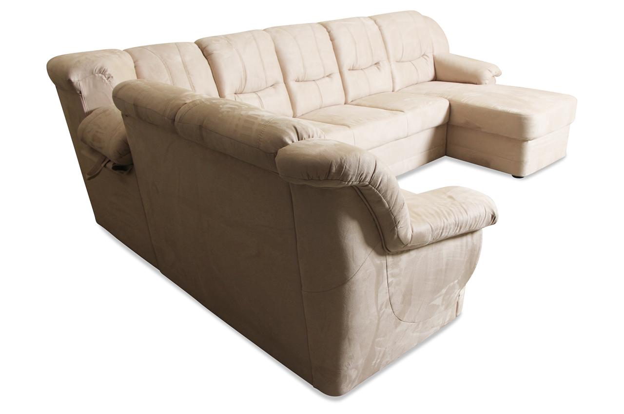 Matex wohnlandschaft orion mit relax creme sofa for Wohnlandschaft orion
