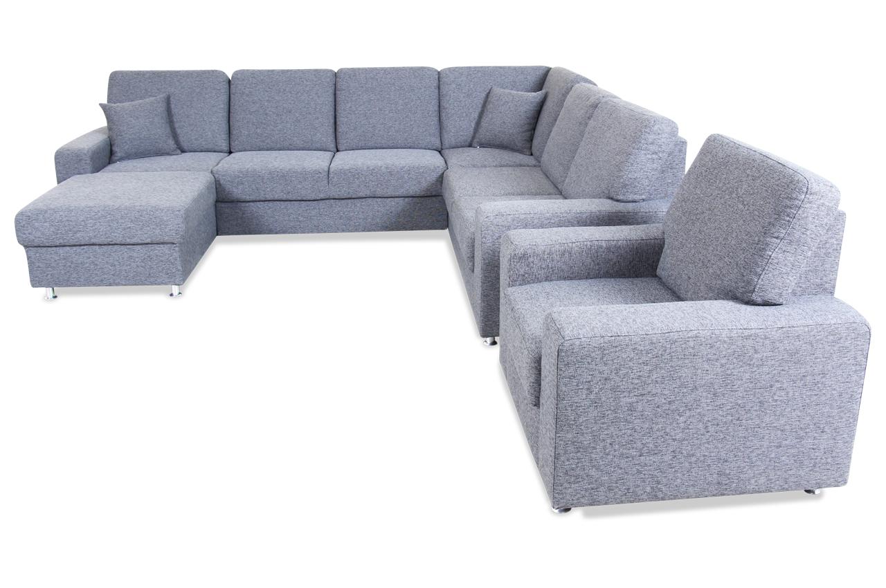 wohnlandschaft arles anthrazit mit federkern sofas zum. Black Bedroom Furniture Sets. Home Design Ideas