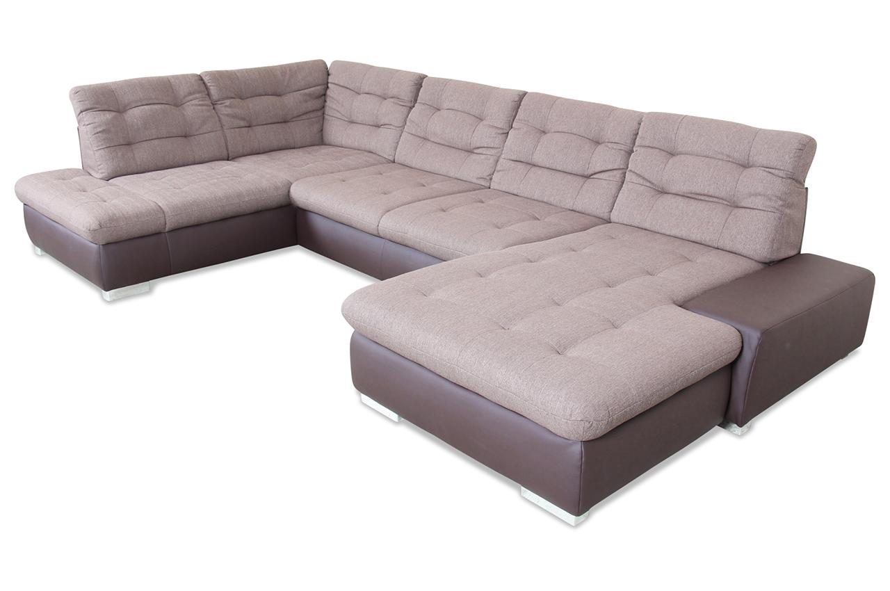 wohnlandschaft creme mit federkern sofas zum halben preis. Black Bedroom Furniture Sets. Home Design Ideas