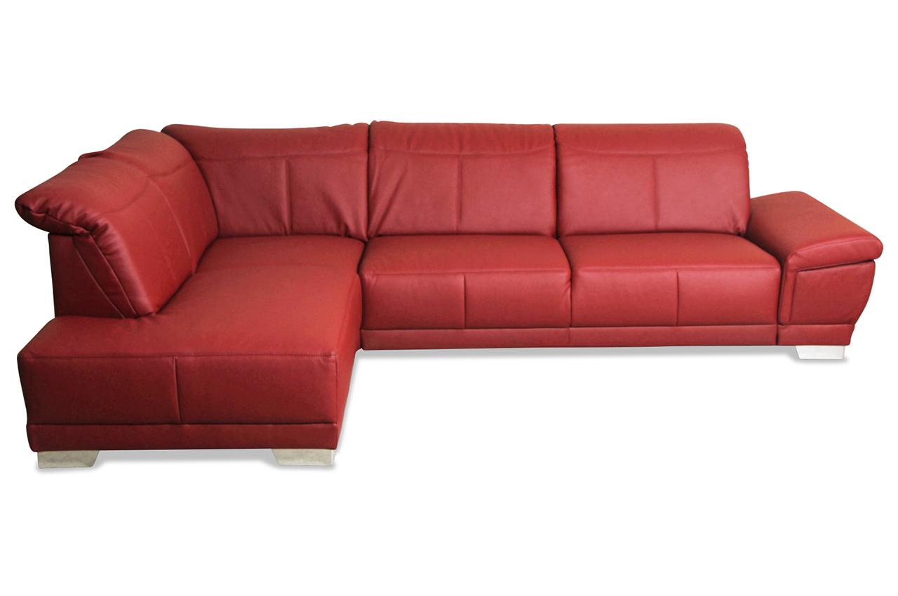 ada alina leder ecksofa xl 7930 mit sitzverstellung rot sofas zum halben preis. Black Bedroom Furniture Sets. Home Design Ideas