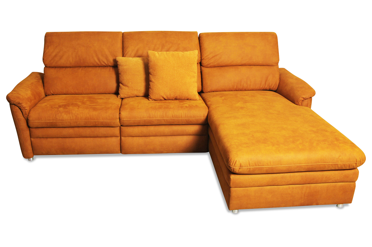 ecksofa mit relax orange mit federkern sofas zum. Black Bedroom Furniture Sets. Home Design Ideas