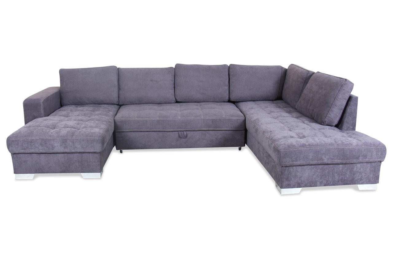 wohnlandschaft arles mit schlaffunktion anthrazit mit federkern sofas zum halben preis. Black Bedroom Furniture Sets. Home Design Ideas