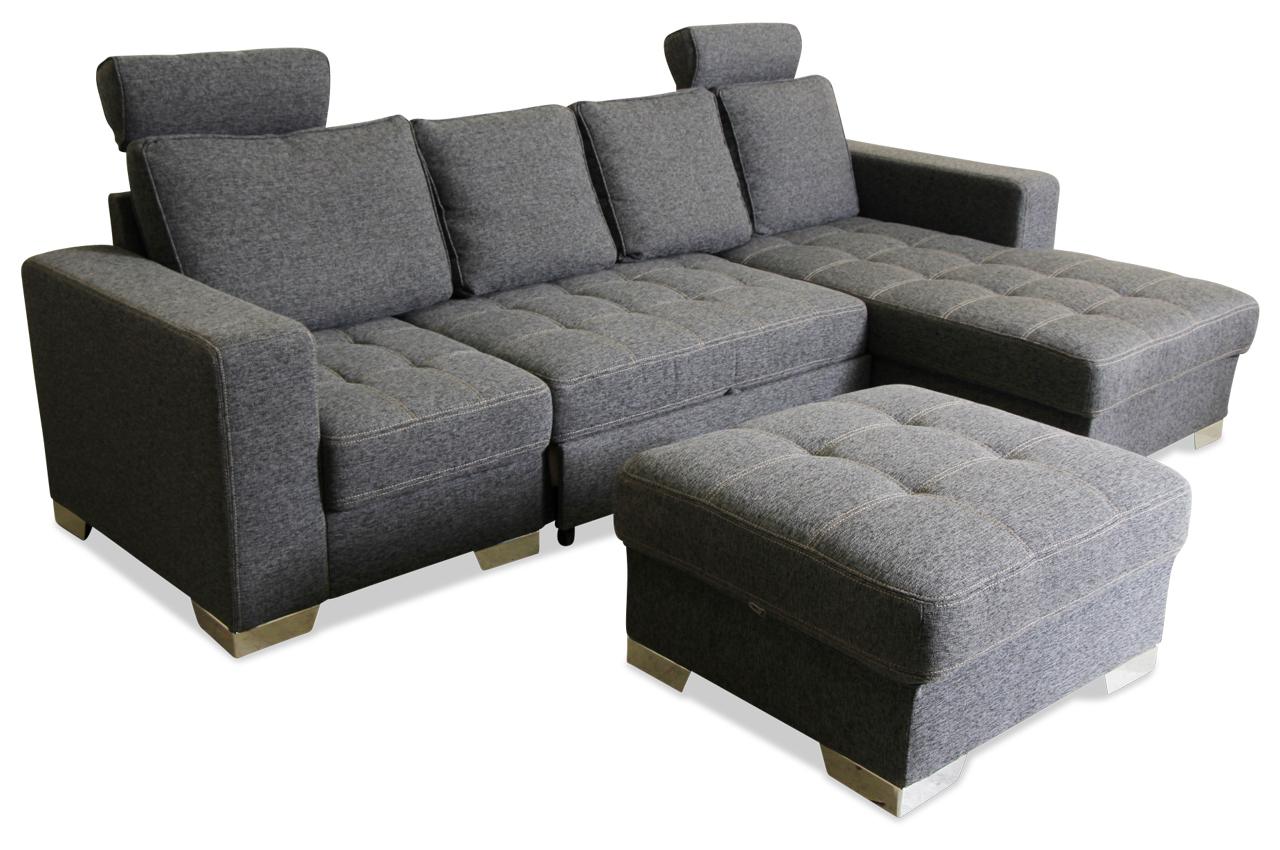 ecksofa arles mit schlaffunktion grau sofas zum halben preis. Black Bedroom Furniture Sets. Home Design Ideas