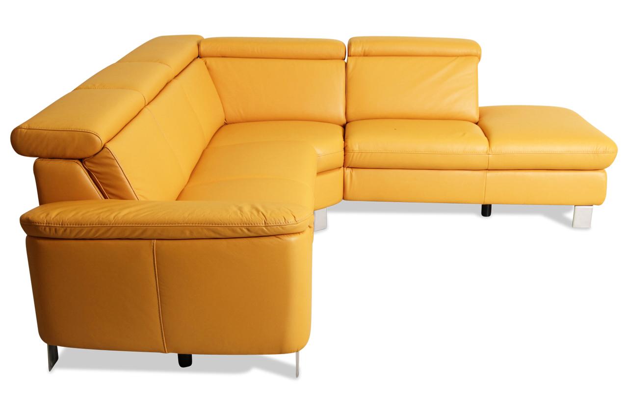 leder rundecke mit sitzverstellung gelb sofas zum halben preis. Black Bedroom Furniture Sets. Home Design Ideas
