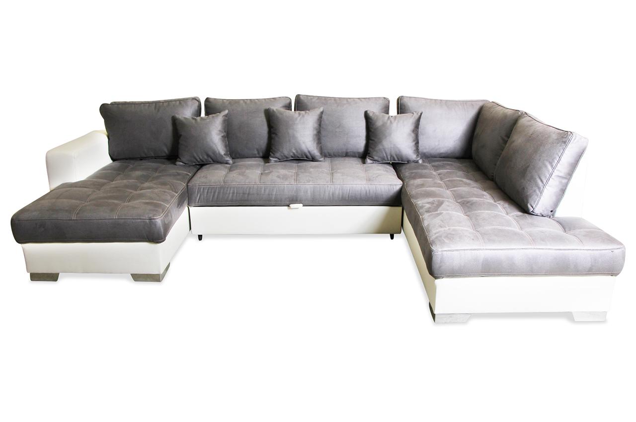 sale matex wohnlandschaft arles mit schlaffunktion weiss sofa couch ecksof ebay. Black Bedroom Furniture Sets. Home Design Ideas