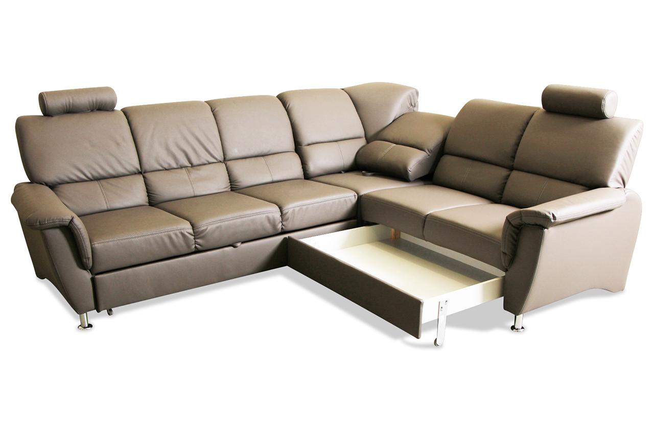 Rundecke Pisa Mit Schlaffunktion Blau Sofa Couch Ecksofa Ebay