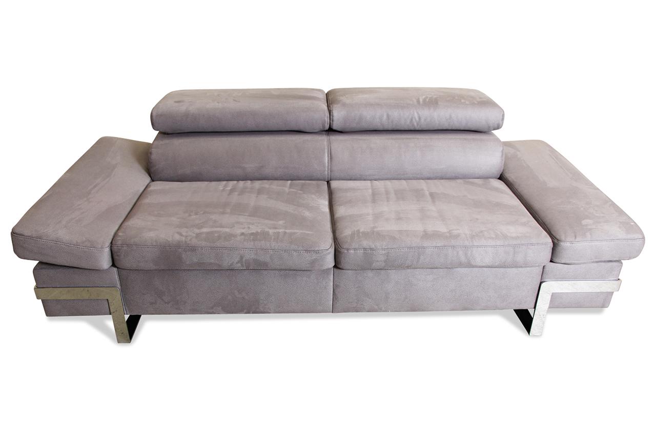 2er sofa mit sitzverstellung grau sofas zum halben preis. Black Bedroom Furniture Sets. Home Design Ideas