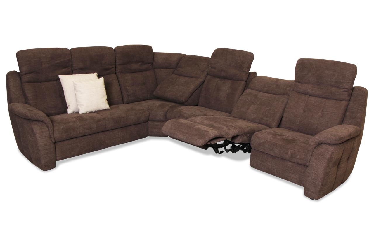 Rundecke Bellagio Mit Relax Braun Sofa Couch Ecksofa Ebay