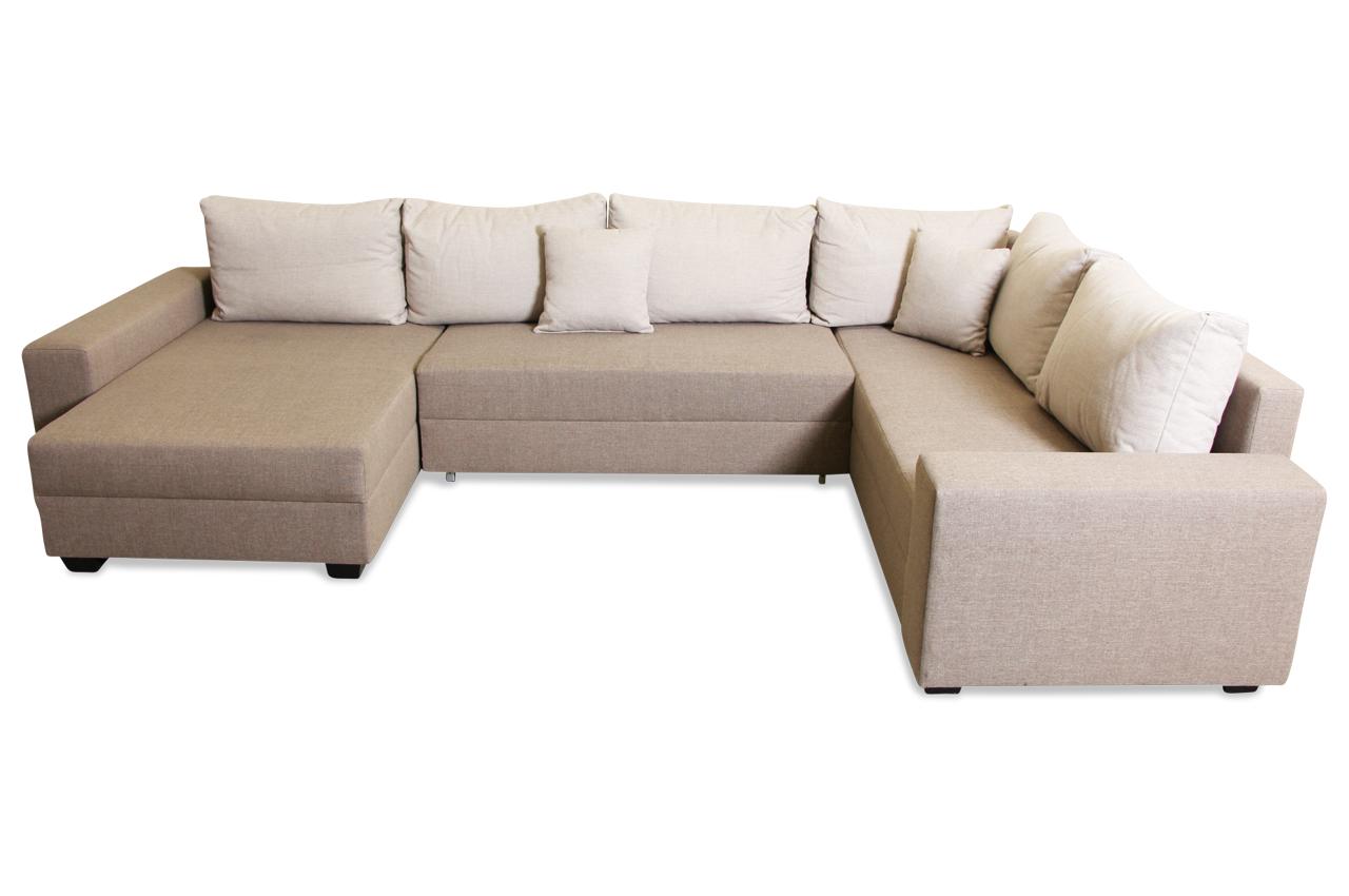 sofa team wohnlandschaft 193 mit schlaffunktion braun sofas zum halben preis. Black Bedroom Furniture Sets. Home Design Ideas