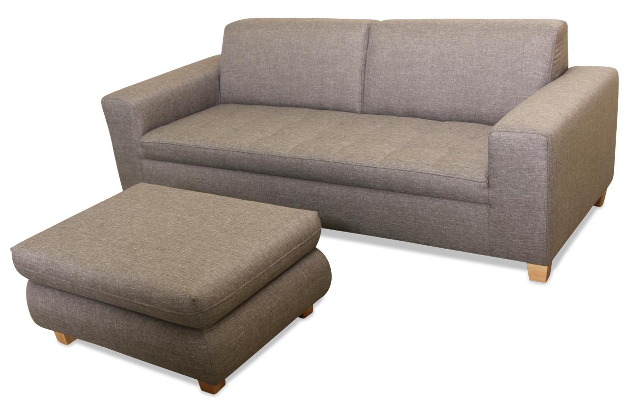 2er sofa nika grau sofa couch ecksofa ebay. Black Bedroom Furniture Sets. Home Design Ideas