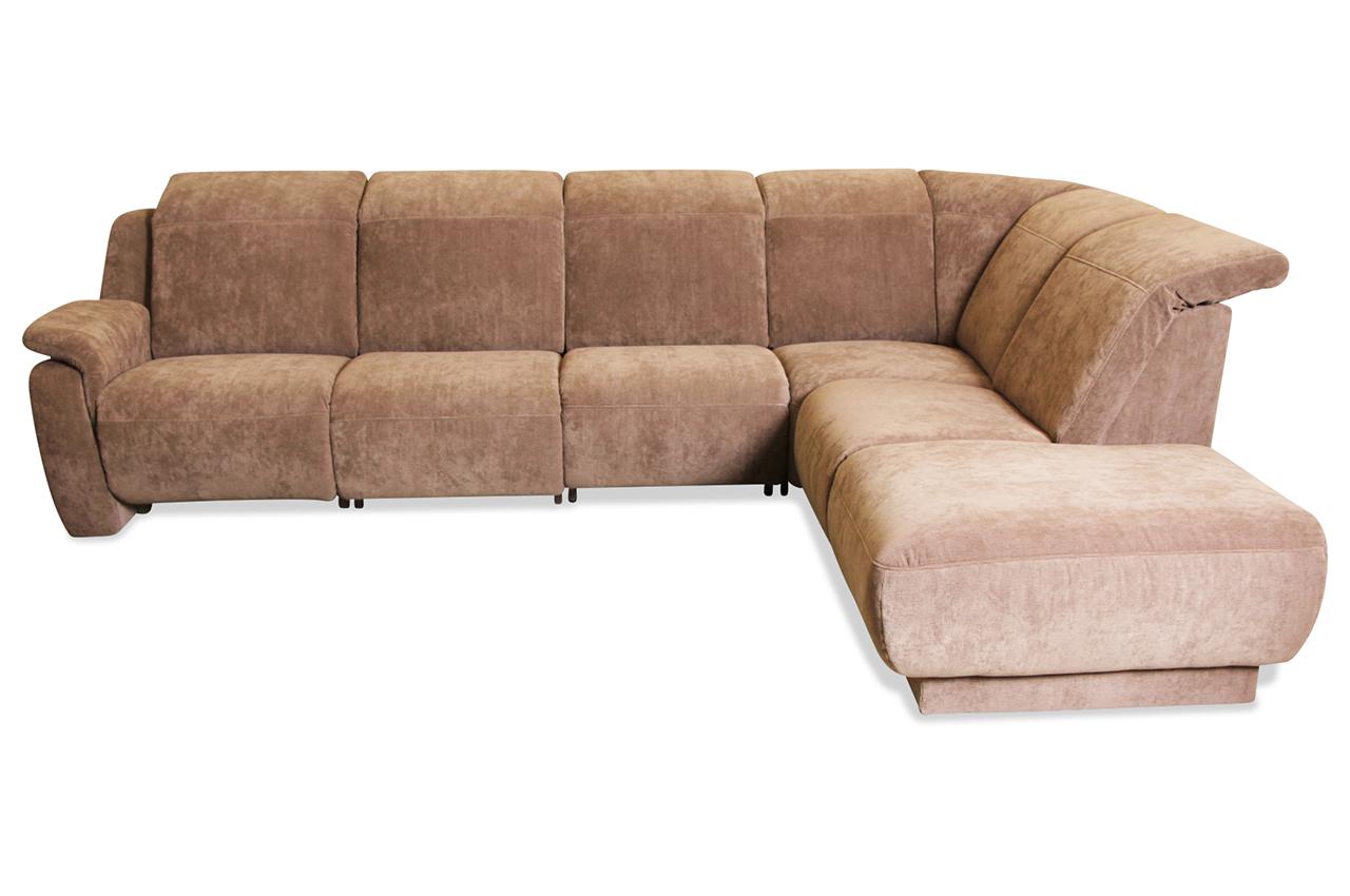 Rundecke Braun Mit Federkern Sofa Couch Ecksofa Ebay