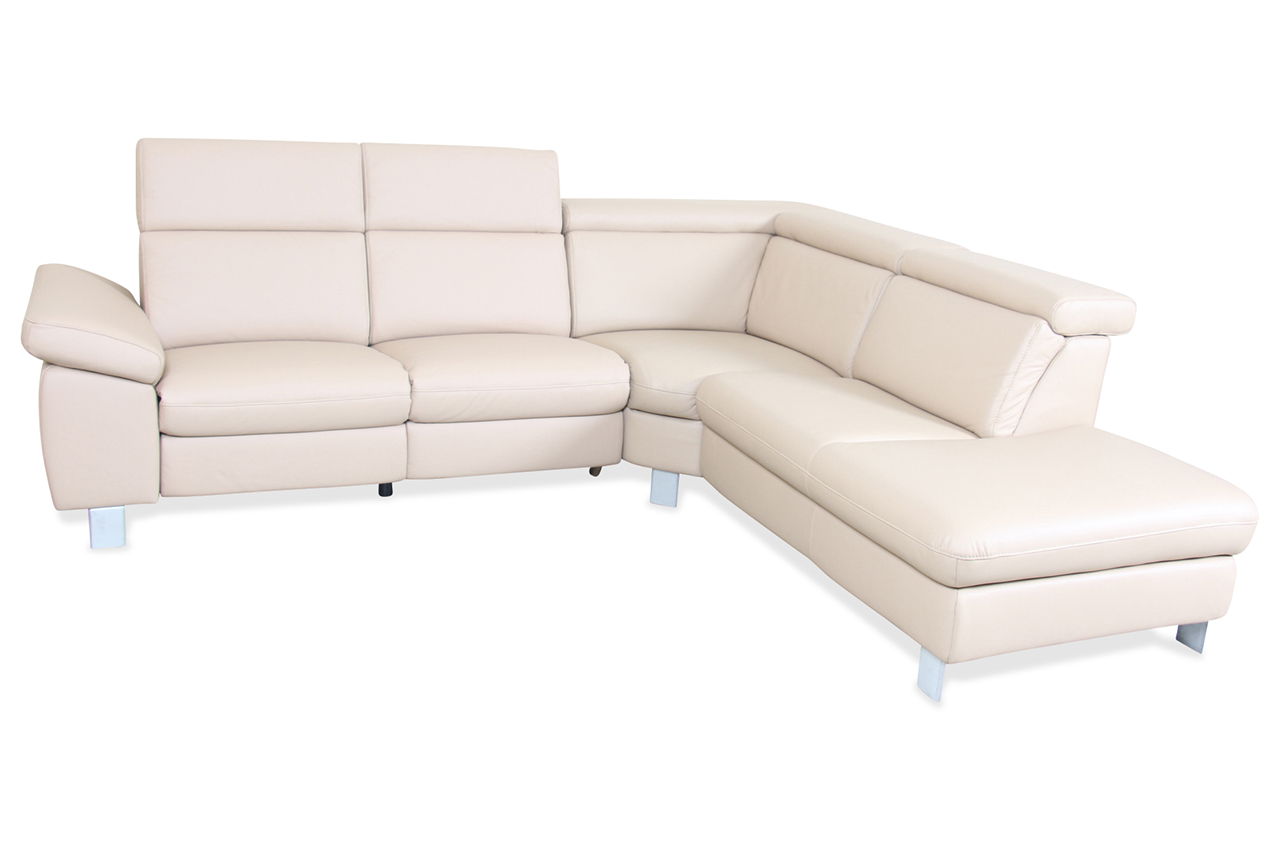 Leder Rundecke Creme Sofa Couch Ecksofa Ebay