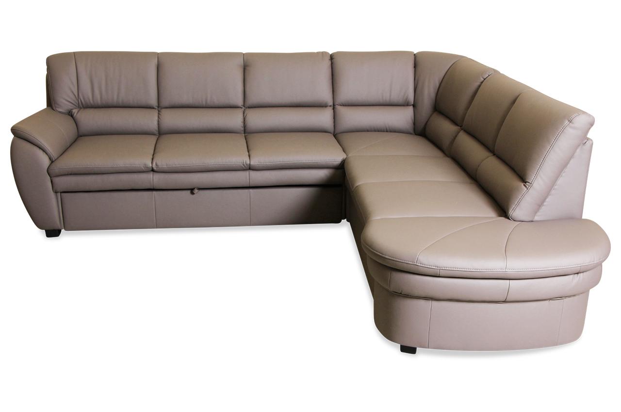 Rundecke Ginger Mit Schlaffunktion Grau Sofa Couch Ecksofa