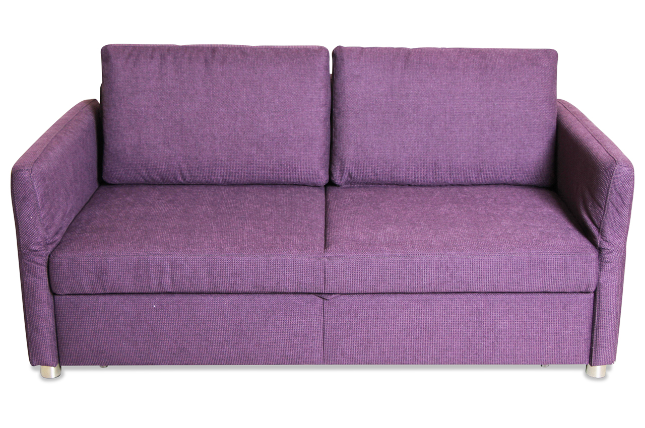 2er sofa mit schlaffunktion violette mit federkern sofa couch ecksofa ebay. Black Bedroom Furniture Sets. Home Design Ideas