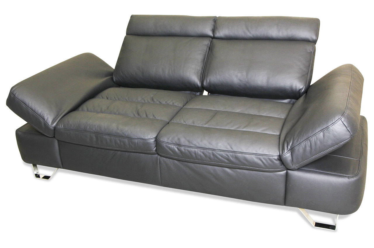 leder 2er sofa schwarz sofas zum halben preis. Black Bedroom Furniture Sets. Home Design Ideas