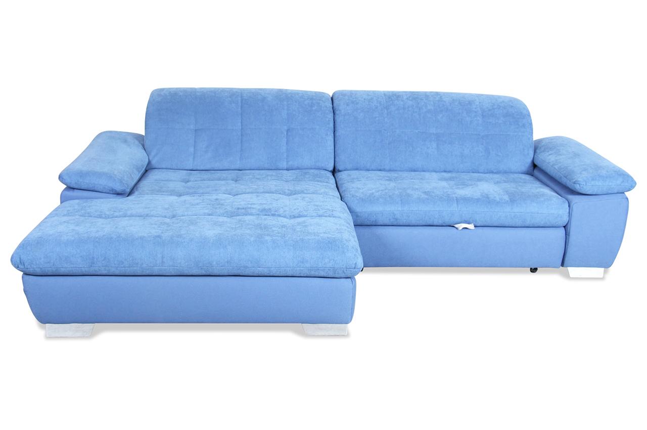 ada alina ecksofa 7604 mit schlaffunktion blau mit federkern sofas zum halben preis. Black Bedroom Furniture Sets. Home Design Ideas