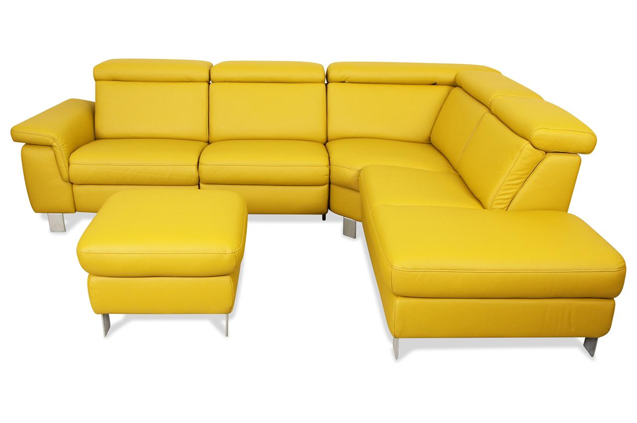 Leder Rundecke Mit Relax Gruen Sofa Couch Ecksofa Ebay