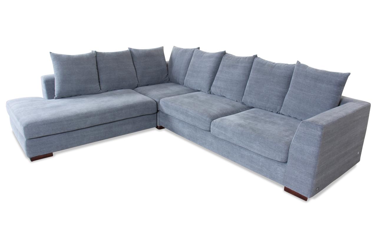 Rundecke Grau Mit Federkern Sofa Couch Ecksofa