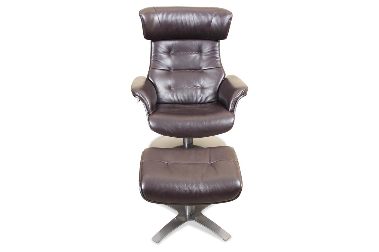 htl international leder fernsehsessel a 967b mit hocker mit relax braun sofas zum halben preis. Black Bedroom Furniture Sets. Home Design Ideas