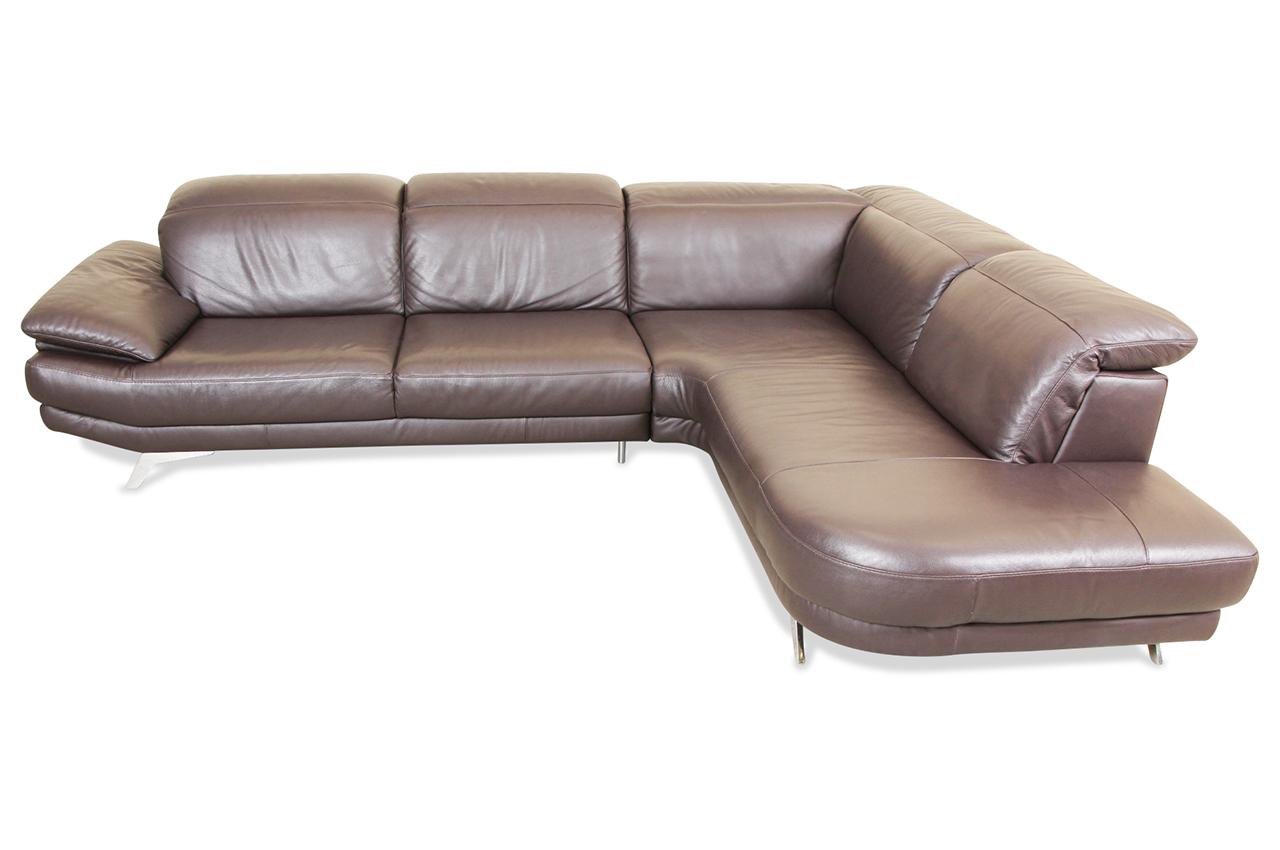 editions leder ecksofa xl u169 braun sofas zum halben preis. Black Bedroom Furniture Sets. Home Design Ideas