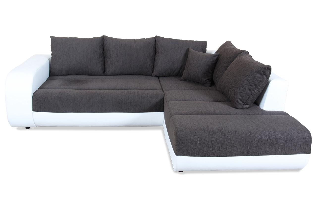 castello ecksofa xl colon mit schlaffunktion schwarz mit federkern sofa c ebay. Black Bedroom Furniture Sets. Home Design Ideas