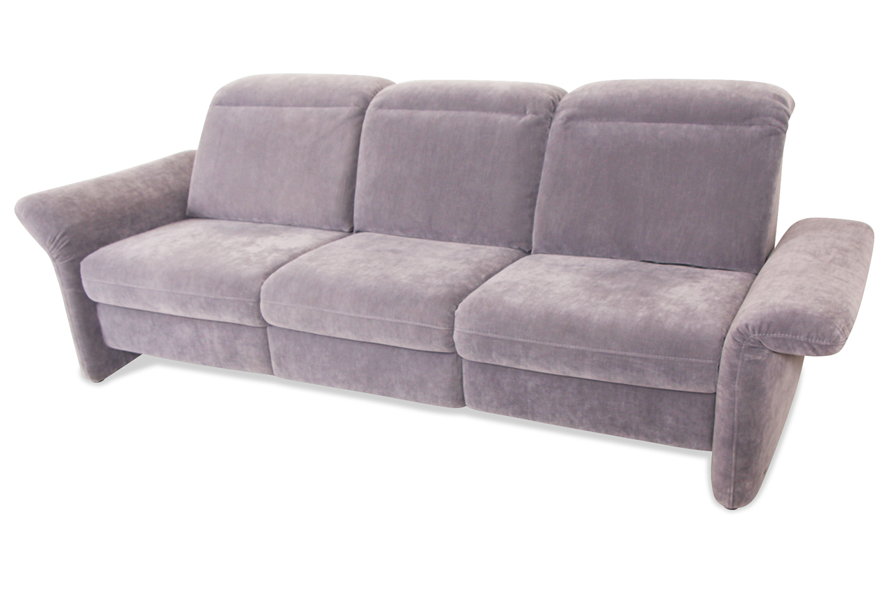 3er sofa mit relax grau sofa couch ecksofa ebay. Black Bedroom Furniture Sets. Home Design Ideas
