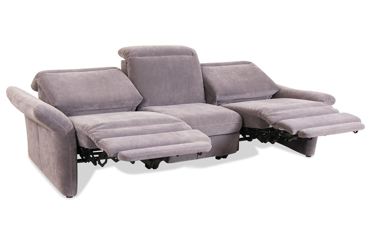 3er sofa mit relax grau sofa couch ecksofa ebay. Black Bedroom Furniture Sets. Home Design Ideas