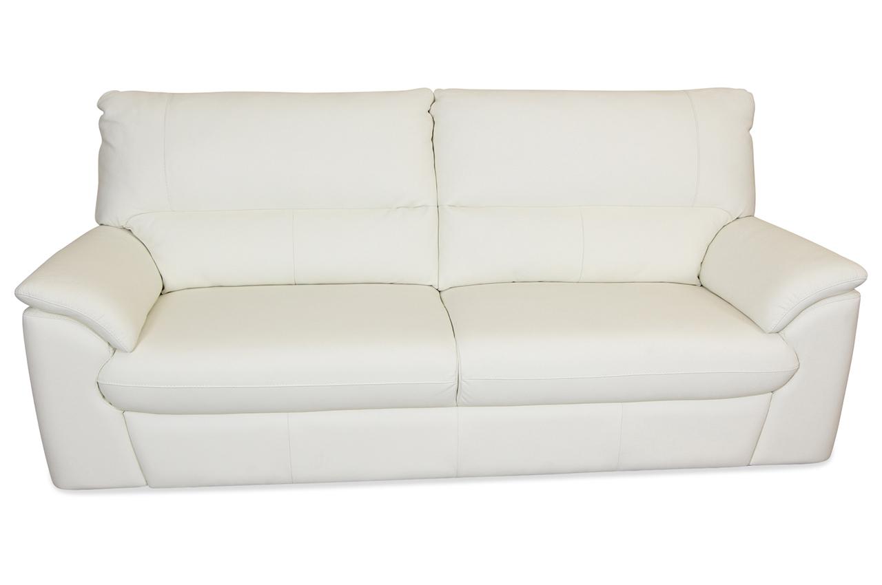 htl international leder 3er sofa trieste weiss sofa couch ecksofa ebay. Black Bedroom Furniture Sets. Home Design Ideas