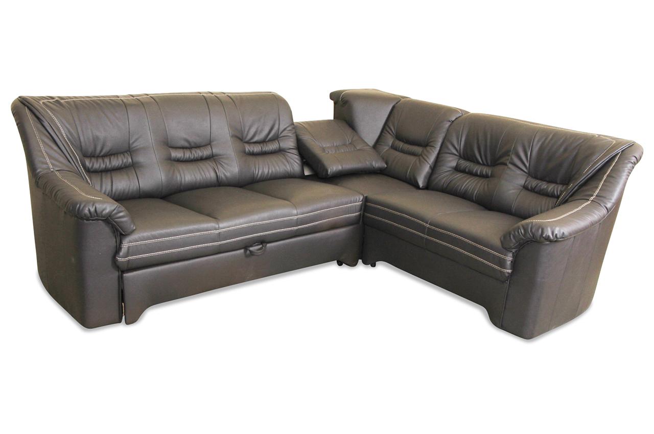 Matex Rundecke Lagos Mit Schlaffunktion Braun Sofa Couch Ecksofa Ebay