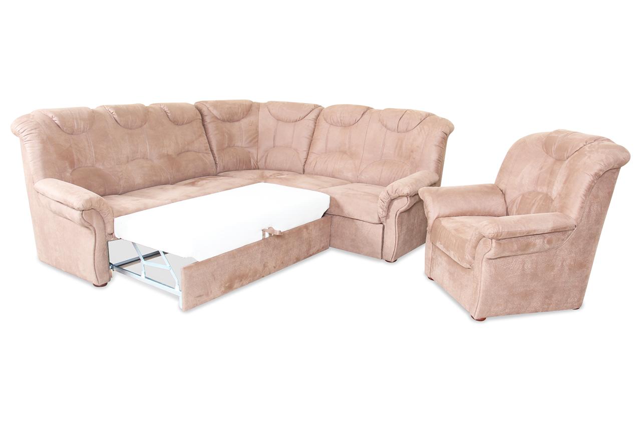 rundecke linus mit schlaffunktion braun mit federkern sofas zum halben preis. Black Bedroom Furniture Sets. Home Design Ideas