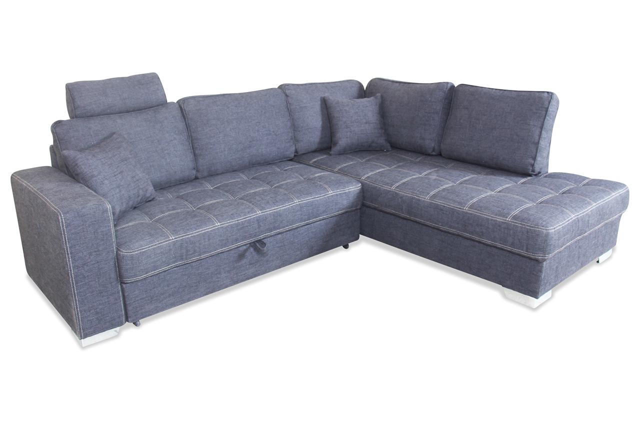 ecksofa xl arles mit schlaffunktion schwarz mit federkern sofas zum halben preis. Black Bedroom Furniture Sets. Home Design Ideas