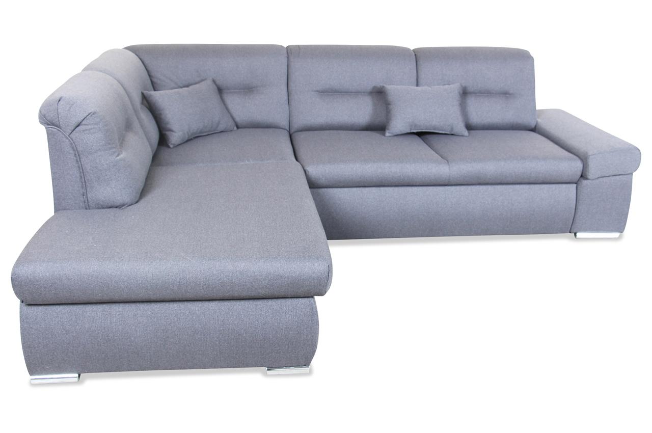 furntrade ecksofa xl shark mit schlaffunktion grau mit. Black Bedroom Furniture Sets. Home Design Ideas