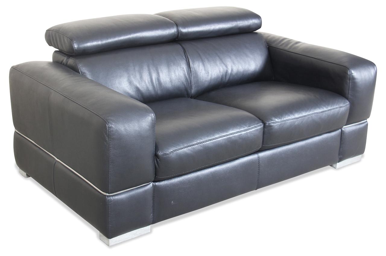 Htl International Leder 2er Sofa 9860 Schwarz Mit Federkern Sofas Zum Halben Preis