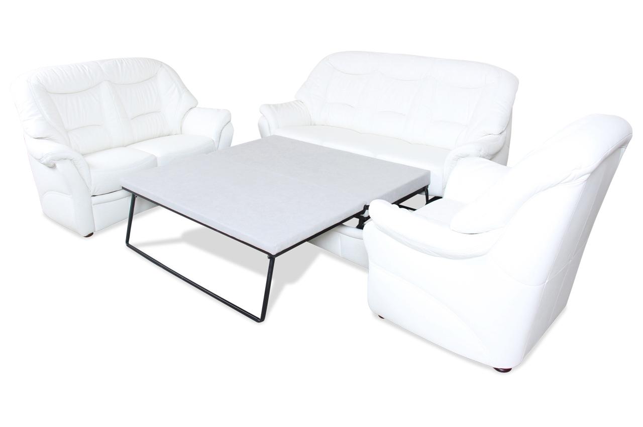 leder garnitur 3 2 1 mit schlaffunktion creme sofas. Black Bedroom Furniture Sets. Home Design Ideas